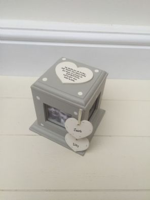 Shabby Chic Style Personalised Gift Photo Cube Box Auntie Aunty Great Aunt Etc